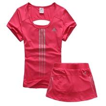 防走光两件套专业速干网球服女套装 网红运动裙裤 夏季羽毛球服女款