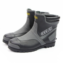 Breakproof rubber rainshoes, low-top steel head, spring and summer air-permeable short barrel, safety labor-protective shoes, overshoes and rainboots