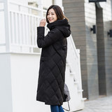 Millennium 秋 autumn and winter new down jacket female long hooded casual Korean down jacket 219132