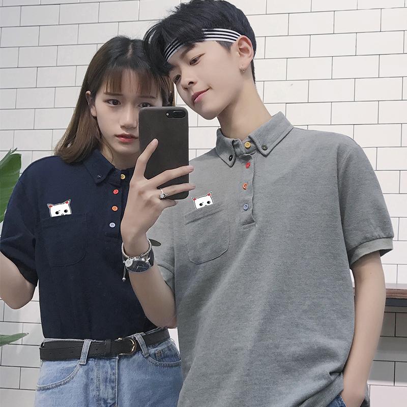 男学生韩版polo衫