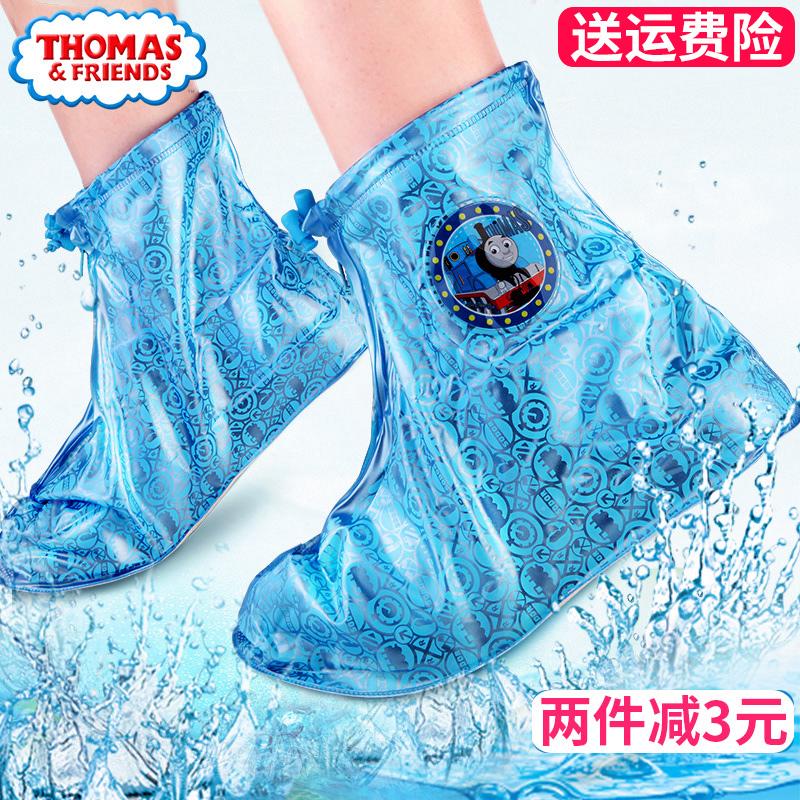 套水鞋 男童托马斯雨鞋 小孩防滑加厚底防滑雨鞋 雨靴套鞋 儿童雨鞋
