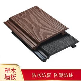 一泽pe塑木外墙轻钢别墅外墙挂板集装箱快装墙板隔热木塑型材定制图片