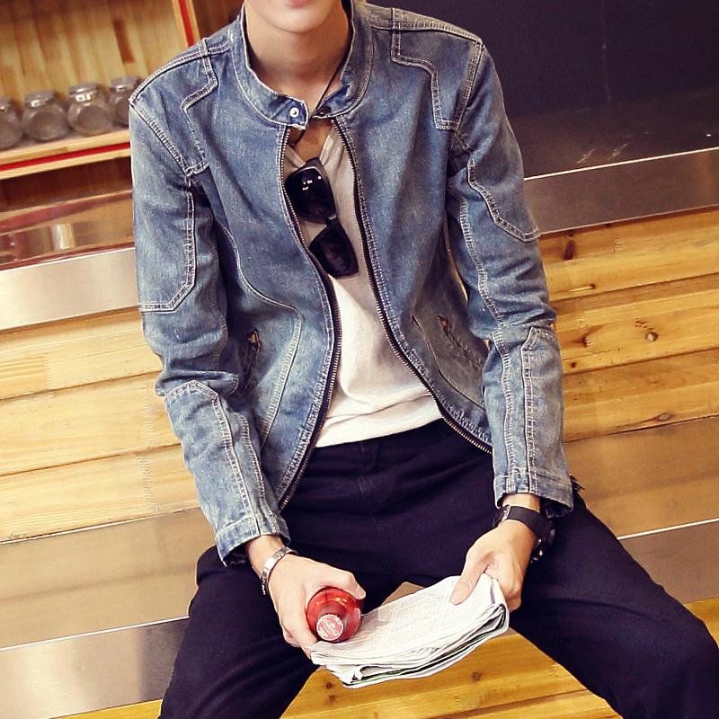 圆领韩版牛仔衣
