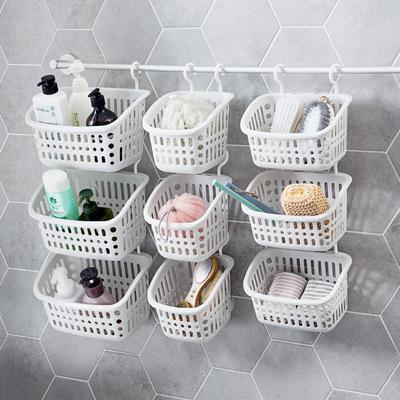 居家家 镂空壁挂收纳篮塑料小挂篮 厨房零食篮子浴室洗澡篮收纳筐