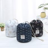 圆筒式大容量旅行洗漱包 旅游女士化妆包 韩国大容量化妆袋 包邮