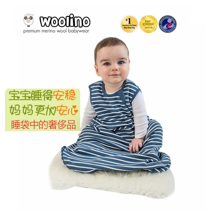 【小小范儿】美国Woolino正品现货 美丽诺羊毛 婴幼儿睡袋 基本款