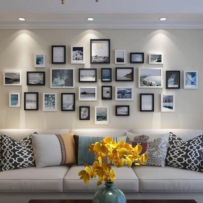 无痕相册照片墙小清新立体相框组合背景七寸像框墙面创意挂件挂饰