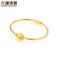 Luk Fook Jewelry Stars 珐琅 Full Gold Transfer Pearl Gold Bracelet Beaded Hand Strap Pendant Valuation HXG70228