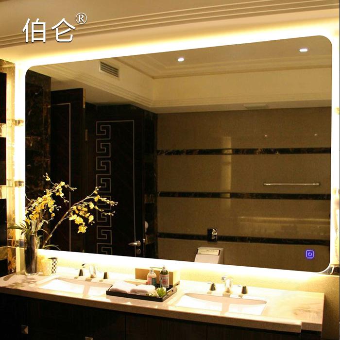 背光浴室镜带灯化妆镜子挂墙洗手间镜LED防雾智能镜卫生间镜子