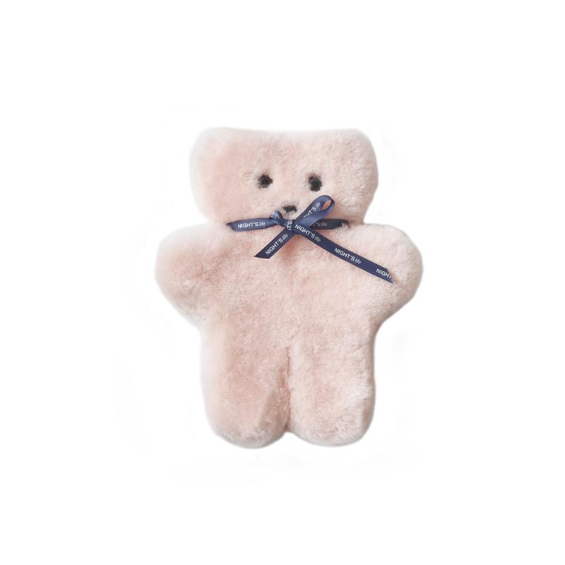 夜家居大小款粉色饼干熊玩偶摆件家居饰品儿童女孩生日礼物 NIGHTS