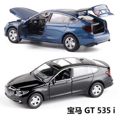 1:32 宝马 BMW 535I GT 仿真金属小汽车模型玩具开门回力合金车