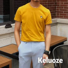 Summer 2019 Korean Menswear T-shirt with round collar and short sleeves