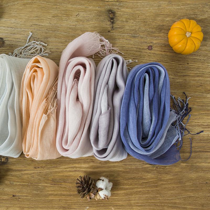 多色围巾棉麻