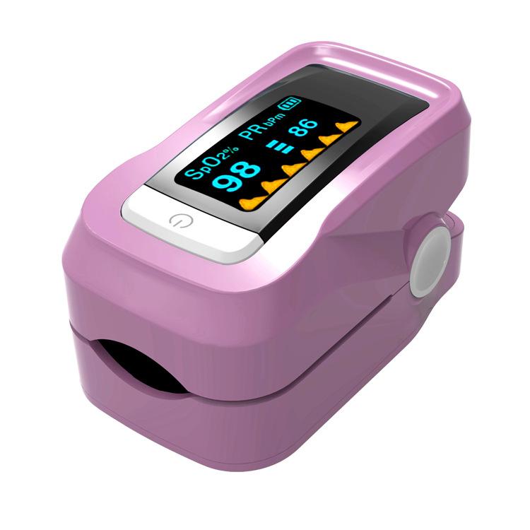 指夹血氧仪手指式脉搏血氧饱和度医用检监测仪指脉氧计心率仪家用