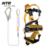 Nitel Whole Body Five-Point Electrical Construction Site Anti-Falling High Altitude Safety Belt 03 Buffer Pack Single-rope and Double-rope Large Hook