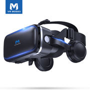 Moss vr glasses mobile phone dedicated 4D head-mounted r one machine ar eyes 3D virtual reality rv game controller movie smart oppo family vivo universal r game machine helmet