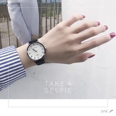 小清新手表 學院派森女學生韓版簡約ulzzang復古大氣休閑男石英表雙十一折扣