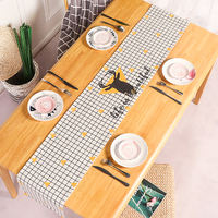 Nordic simple cotton linen table cloth TV cabinet cover cloth bed flag table flag coffee table cover towel net red creative table flag