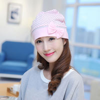 Spring and autumn winter spring and summer postpartum confinement hat maternity pregnant women's headscarf cotton velvet supplies thin section to keep warm