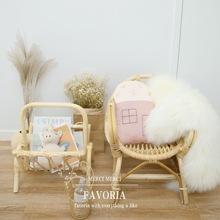 印尼编织藤椅书架儿童房民宿摄影 韩国ins北欧宜家儿童椅宝宝椅子