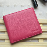 2019 women's wallet short leather simple mini mini wallet leather Korean version folding ultra-thin two fold leather clip