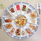 Shake yin New Year's Eve tableware set seafood ceramic combination plate family banquet party tableware set set set reunion plate