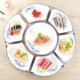 New Year's eve dinner web celebrity plate ceramic combination platter hotel dinner party dinner set household fan dish plate