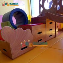 金宝贝早教木制滑梯体能训练运动组合感统训练中心玩具教具豪华版