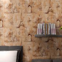 壁纸法式乡村复古花纹卧室满贴墙纸自居自在精选推荐