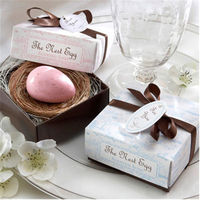 Korean version of the mini handmade soap creative wedding wedding wedding gift box packaging romantic cute small soap