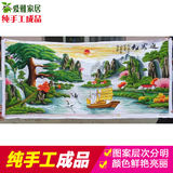 Embroidered pure hand-made cross-stitch products welcome guests Song Caiyun 2-meter landscape painting living room series for sale