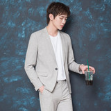 CSO summer men's small suits fashion casual casual casual casual Korean style young students retro slim suit set