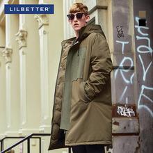 Lilbetter羽绒服男 中长款连帽冬装大衣保暖加厚外套男士羽绒服潮