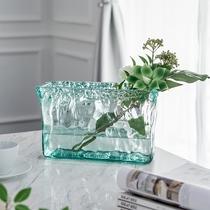 柏斐家饰西班牙北欧潘多拉玻璃花瓶摆件透明现代简约客厅餐桌花器