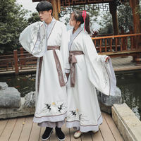 Han and Tang dynasty original Hanfu men's direct straight back to the ancient style non-historic straight couples class service songs female spring