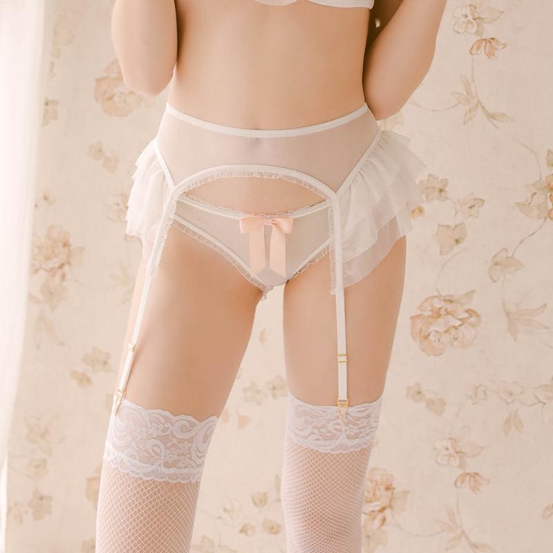 情趣也高级网纱吊袜带套装管阿姨十点半H-011性感内衣配件吊带袜