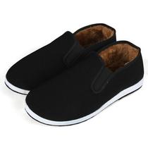 男士棉鞋男爸爸男鞋冬季加绒冬天中年加厚皮鞋中老年保暖老人