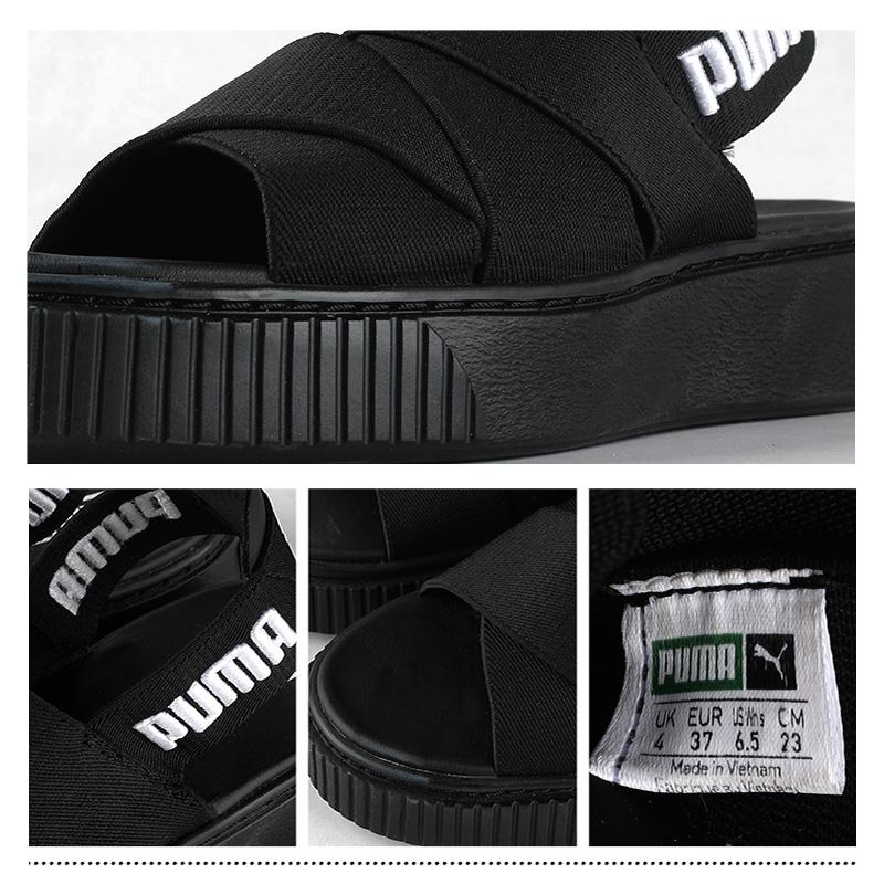 彪马女鞋Plaform Sandal厚底凉鞋松糕时尚拖鞋凉鞋365478-01
