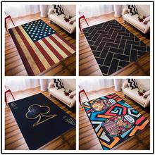 潮牌个性创意时尚地毯欧美客厅茶几卧室床边长方形服装店地垫定制