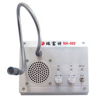 Ruifu Bank window walkie-talkie NH-002 toll port sound reinforcement intercom metal two-way station loudspeaker