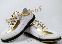 New products! US ELITE elite bowling shoes white gold men's shoes