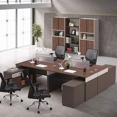 4人位职员办公桌单人职员桌员工位组合屏风工作位板式电脑桌简约