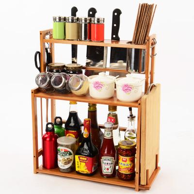 竹多功能厨房置物架哪里便宜
