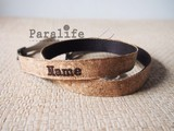 Paralife custom lover gift name cork camera strap micro single SLR Polaroid shoulder strap