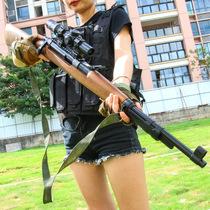 便宜的枪98k狙击抢可射击手枪仿真模型木木质拉栓抛壳坚尖峰玩具