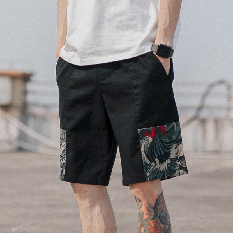 民族风沙滩裤男