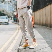 灰色日系小脚裤