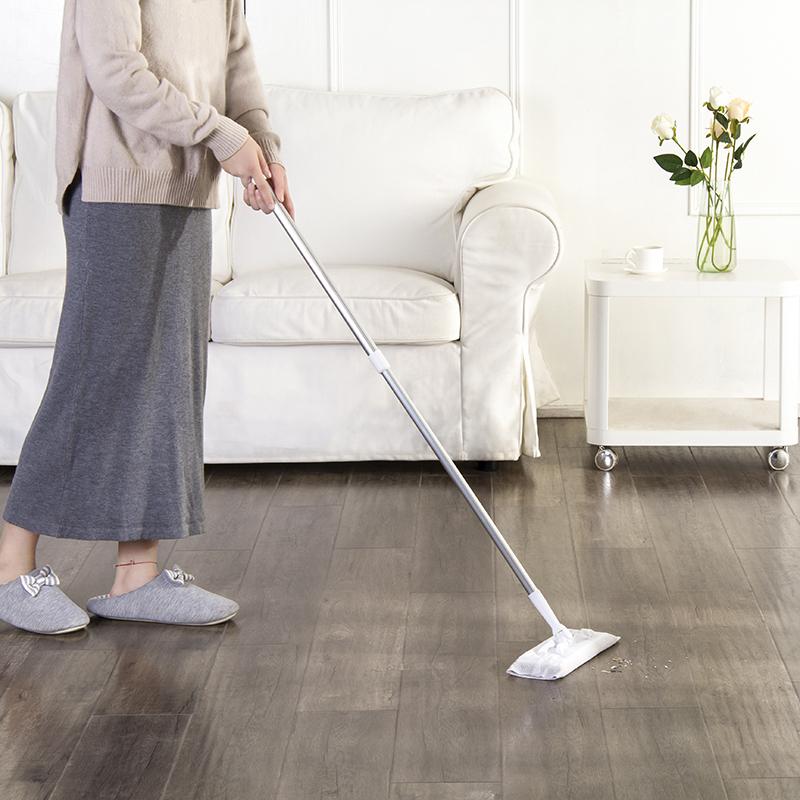 喜擦擦地板清洁上光湿巾 一次性地板湿纸巾 擦地布80片加拖把