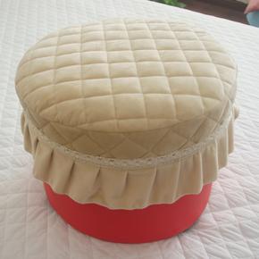 短毛绒夹棉冬用圆形凳子罩登子罩套 圆形桌套 可定制 2个包邮