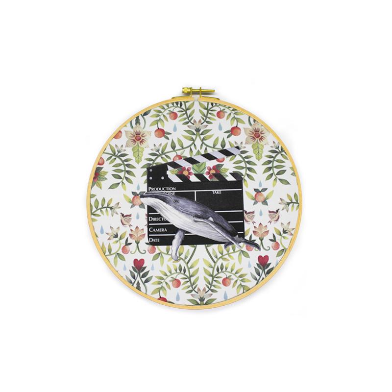 源本生活客厅现代装饰画沙发背景墙画卧室床头挂画简约ins风-戏鲸